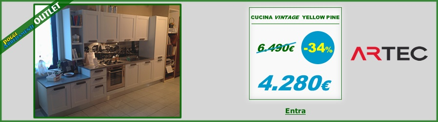 Outlet Cucina Vintage Yellow Colombini Artec